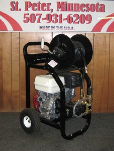 3500 PSI 4 GPM Gas Cold Cart With Reel